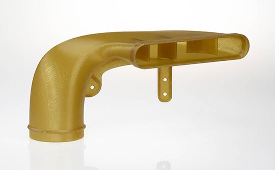 由於其耐燃料性和重量輕,Antero 800NA材料被選為該風管部件。