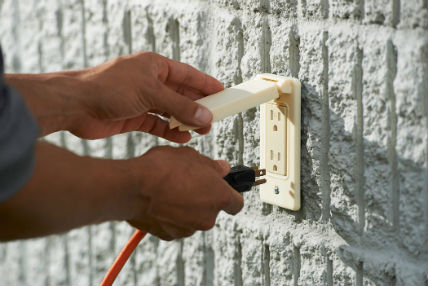 採用 ASA 抗紫外線材料進行 3D 列印的外部電源插座。