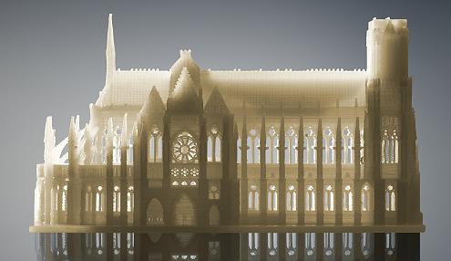這種建築模型中的小視窗是由可溶性支撐材料製成的